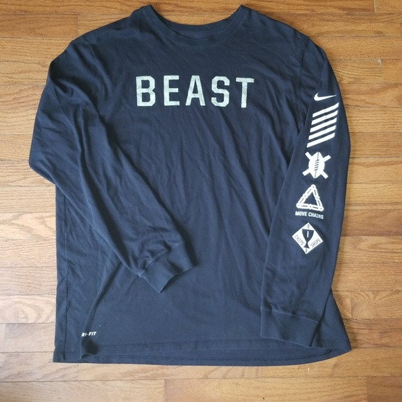 "Nike Other - Nike Football ""Beast"" 2XL Long Sleeve DriFit Shirt"